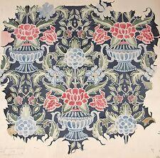 Cecilia Bonifacio. ORIGINALE Floreale & Urna Lana Arazzo Design 19th/inizio 20th C.