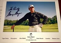 Gary Player PGA HOF Golfer Golf auto authentic autograph signed PHOTO MASTERS !!