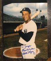 HECTOR LOPEZ YANKEES AUTOGRAPHED SIGNED AUTO BASEBALL PHOTO 8x10