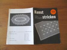 Kunststricken Anleitungen für 8 Decken und Deckchen Nr. 1689 von 1989