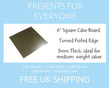 """20 X 6"""" Inch Square Silver Cake Board 3mm Double Thick"""