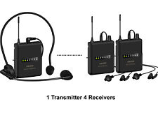 Anleon wireless tour guide language translation system with 4 Receivers