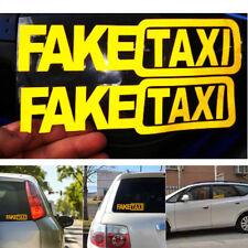 2Pcs/set Funny Vinyl Stickers FAKE TAXI Car VAN Decal Emblem Self Adhesive New