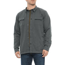 O'Neill ONeill Frigid Plaid Super Fleece Lined Grey Shirt Jacket Small *NEW* $80