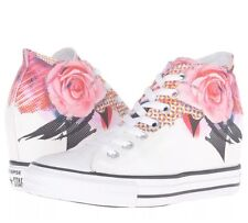 Converse Chuck Taylor Mid Wedge Sneaker White Pink Floral Platform All Star 9.5