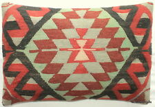 (40*60cm, 16*24cm) Textured handmade pillow cover tribal motifs faded soft colou