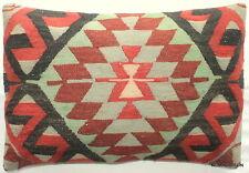 (40*60cm, 16*24cm) Textured handmade pillow cover tribal motifs faded soft colou