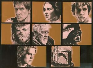 2009 Topps Star Wars Galaxy Series 4 Complete 15-Card BRONZ FOIL Parallel Set