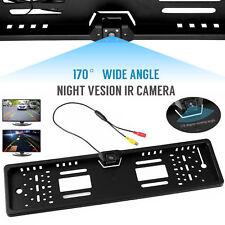 170 ° de visión trasera cámara de marcha atrás HD respaldar Placa De Aparcamiento Visión Nocturna IR LED