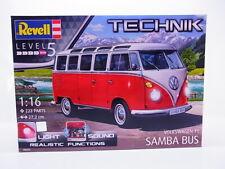 63015 | Revell Technik 00455 VW T1 Samba Bus 1:16 Bausatz Licht Sound NEU in OVP