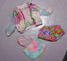 Barbie doll Teen Talk lot set purse shorts jacket top clothes Mattel