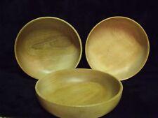 "Set of (3) Woodbury Woodware Shelburne, Vermont 6"" Hand Turned Wood Bowls"