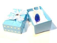 Objet de collection bébé  baptême tétine sucette cristal bleu