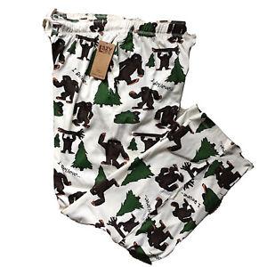Men's Lazy One Pajama Bottoms Pants I Believe Bigfoot Novelty Lounge Cotton NWT