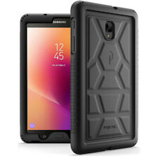 Poetic Samsung Galaxy Tab A 8.0 Rugged Case [TurtleSkin] Shockproof Cover Black