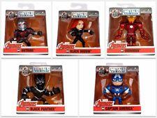 "Jada Diecast Marvel Avengers 2.5"" Set 5 figures Black Widow Panther Iron Man Cap"