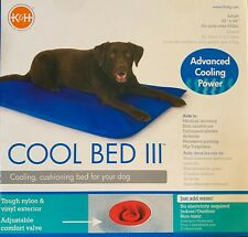 NEW K&H Cool Bed III Water Bed Blue Large 111cm x 81cm. For Dogs