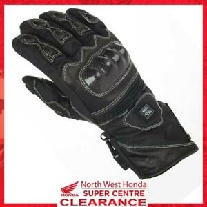 Keis X800 Leather & Textile Heated Motorcycle Gloves With Connection Wires