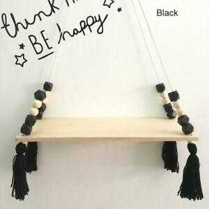 NewFits Style Colorful Beads Tassel Wooden Wall Shelf Wall Clapboard best home