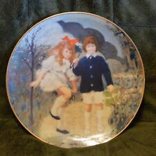 Wonders Of Childhood Plate Collection, April, Walking In The Rain