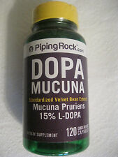 DOPA Mucuna Pruriens Velvet Bean Extract 15% L-DOPA 120 Capsules Pills 350 Mg