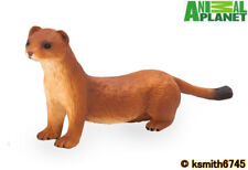 Mojo Animal Planet STOAT solid plastic toy wild zoo woodland garden weasel * NEW