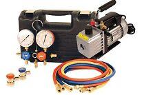 FJC 9270 Car A/C R134a Manifold Gauge Set & 5 cfm Vacuum Pump  Air Conditioning