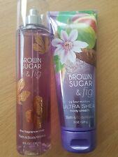 Bath and body works Brown Sugar & Fig Body Mist/  Body Cream Duo.