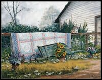 The Old Quilt - Chart Counted Cross Stitch Pattern Needlework Xstitch craft DIY