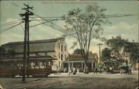 East Windsor Warehouse Point CT Trolleys c1910 Postcard