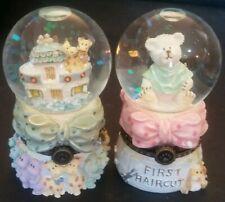 Lot of 2 Baby Boyds, Locksley G. Bear and Baby Ark, Water Globes Nib