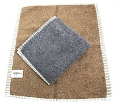 Serenade - Twin Pack Luxury Thick Soft Men's Face Cloth Flannels - Brown/Grey