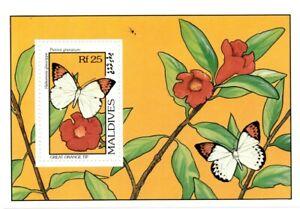 VINTAGE CLASSICS - Maldives 1906 - Great Orange Tip Butterflies - S/S - MNH
