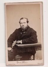Vintage CDV Gunther Singer Opera ? stage actor Musician? Gurney Photo