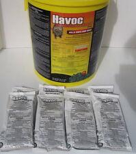 Havoc Rat & Mouse Poison Pellet Packs 8 Packs FREE SHIP 1.76 oz packs FREE SHIP!