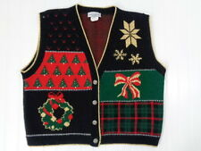 Womens Christmas Vest Ugly Sweater Size Medium Cricket Lane misc11