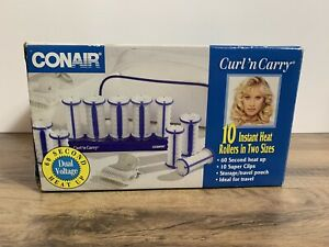 Conair Curl N Carry Hot Rollers TS10 Travel Case Pageant 10 instant heat NIB