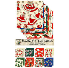 "Paper 24sh 6""x6"" # Christmas Fairy Vintage # FLONZ Craft Scrapbooking 037"