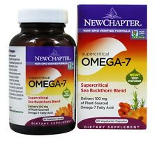 New Chapter Supercritical Omega-7 Sea Buckthorn Blend 60 Vegetarian Capsules