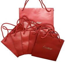Cartier Empty Shopping Gift Paper Bag 6P Set Burgundy-20