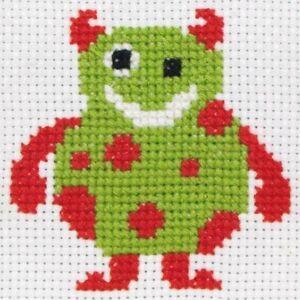 ANCHOR Children First Cross Stitch Kit 8-Count Binca 10x10 cm Christmas Gift