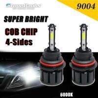 4 Sides 9004 HB1 LED Headlight Bulbs Hi-Lo Beam 72W 8000LM 6000K White Light Kit