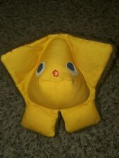 Vtg 70s Fisher Price Brown Squeak A Boo Rattle Toy Plush Stuffed Animal # 416