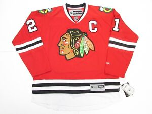 "STAN MIKITA CHICAGO BLACKHAWKS HOME REEBOK PREMIER 7185 HOCKEY JERSEY WITH ""C"""