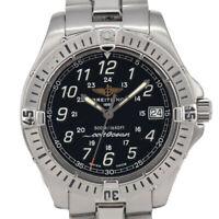 Auth BREITLING Colt Ocean A64350 Black Dial Date Quartz Men's Watch L#92937