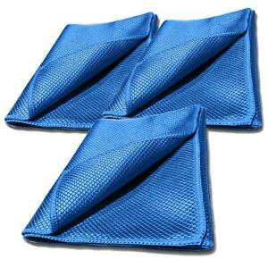 Glass Cloth Cleaner x 3 Fish Scale Microfibre Microfiber Mirror Vehicle Cleaning