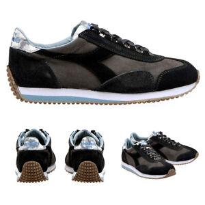 DIADORA HERITAGE Equipe Scarpe Sneakers da Uomo 42 41 evo nero grigio casual