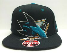 San Jose Sharks Cap NHL Fitted Hat size 6 7/8 Big Logo Zephyr Cap NEW