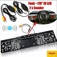Funk-170° IR LED Rückfahrkamera kennzeichen kabellos Nummernschild Einparkhilfe