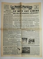 N663 La Une Du Journal Le petit Parisien 13 septembre 1943 le duce est libéré